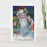 Vintage del St. Nick de los saludos del navidad