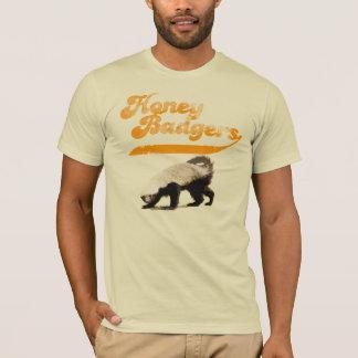 Vintage del tejón de miel del equipo camiseta