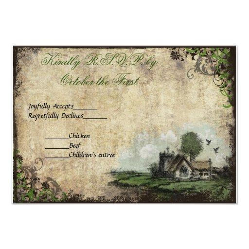 Vintage del verde de la iglesia del vintage que ca anuncio
