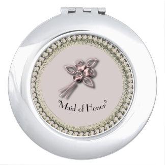 Vintage-Delicate_Wedding-Anniversary-Rose-Gold Espejo Para El Bolso