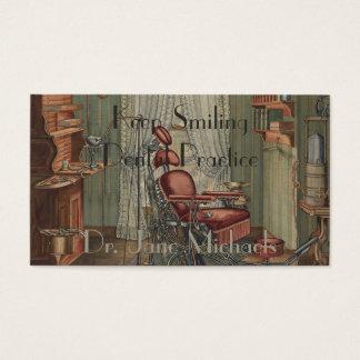 Vintage dental del aguazo de la acuarela de la tarjeta de negocios