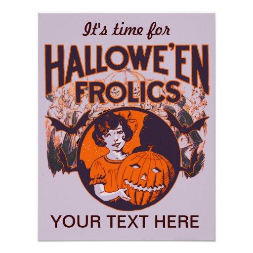 Vintage divertido de Halloween Anuncios Personalizados