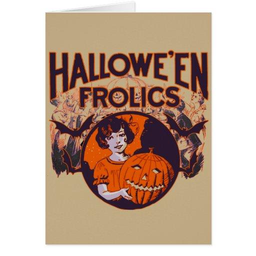 Vintage divertido de Halloween Felicitaciones