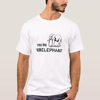 Vintage divertido usted es camisa del elefante del