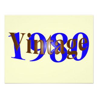 Vintage el an o 80 invitacion personalizada