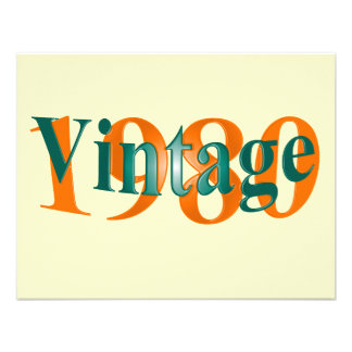Vintage el an o 80 comunicados personales