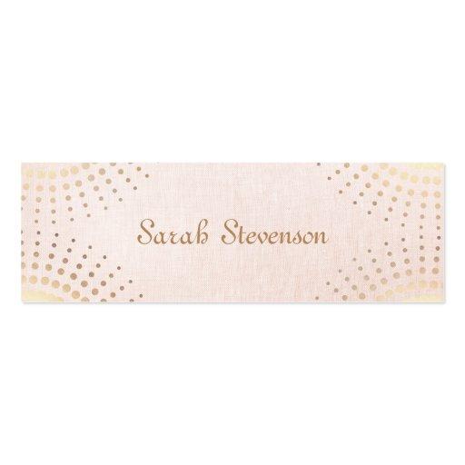Vintage elegante rosa claro, belleza simple tarjeta de visita