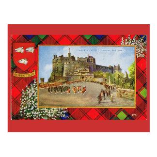 Vintage Escocia, Robertson, castillo de Edimburgo Postal