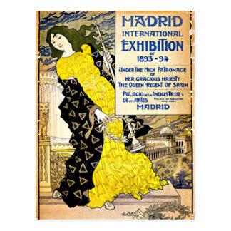 Vintage: Exposición internacional de Madrid, Postal