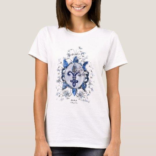 Vintage Fleur de Li Camiseta