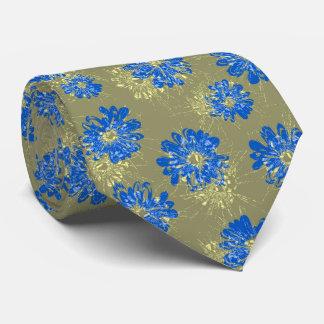 Vintage floral del acuario bilateral corbata personalizada