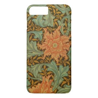 Vintage floral del solo modelo del tronco de funda iPhone 7 plus