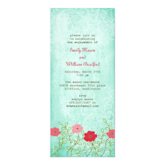 Tarjeta Vintage floral e invitación de las hojas