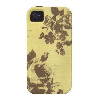 Vintage floral vibe iPhone 4 carcasa