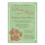 Vintage floral (sabio y calabaza) comunicado personal