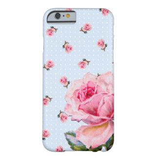 Vintage floral y puntos funda barely there iPhone 6