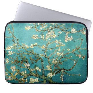 Vintage floreciente Van Gogh floral del árbol de Funda Portátil