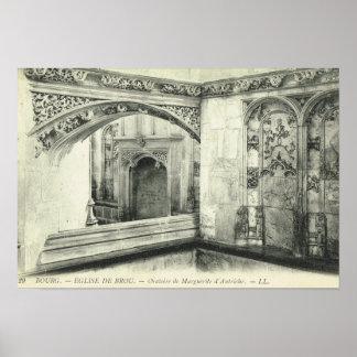 Vintage Francia, en Bresse, Eglise de Brou de Póster