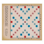 Vintage Gamboard del Scrabble Póster