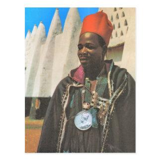 Vintage Ghana, jefe de la tribu de la reproducción Postal