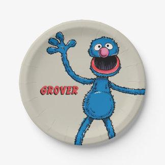 Vintage Grover Plato De Papel