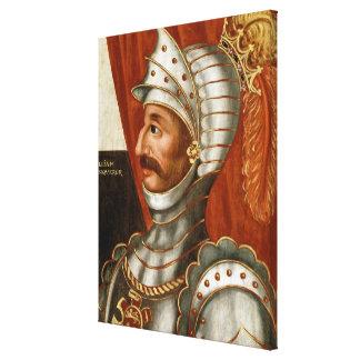 Vintage Guillermo la pintura del conquistador Lienzo