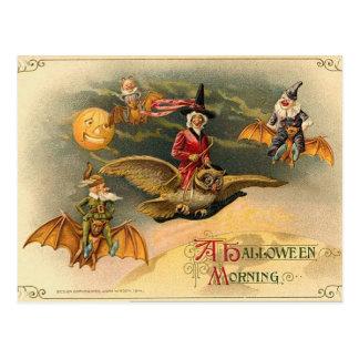 Vintage Halloween etéreo Postal