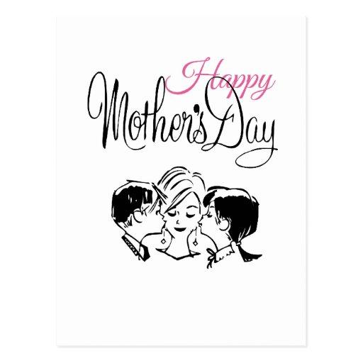 Vintage Happy mother's day! Postales