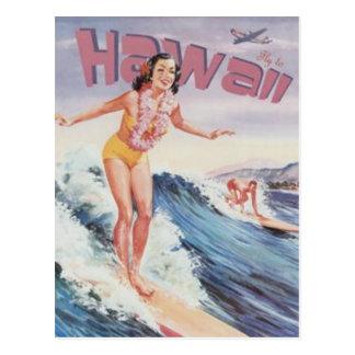 Vintage Hawaii, los E.E.U.U. - Postal