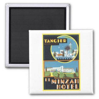 Vintage hotel del EL Minzah de Tánger, Marruecos Imán Cuadrado