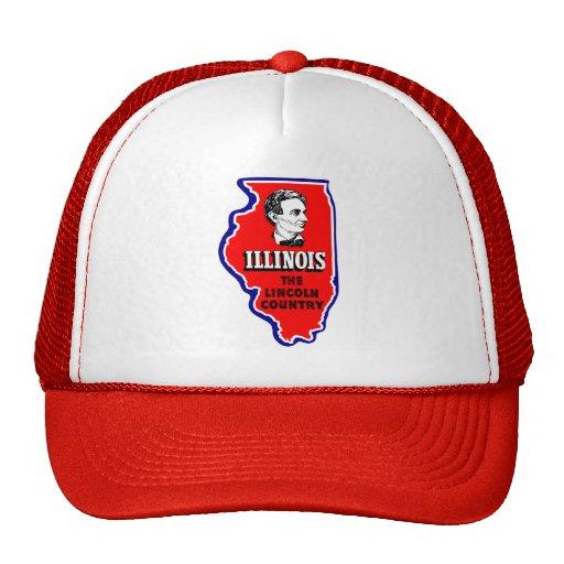 Vintage Illinois, país de Abe Lincoln Gorros Bordados