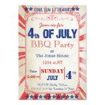 Vintage invitación rústica de la celebración de