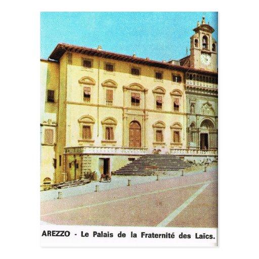 Vintage Italia, Arezzo, palacio de la fraternidad Postal