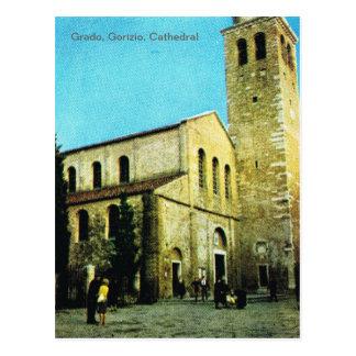 Vintage Italia, Grado, Gorizio, catedral Postal