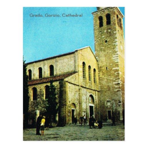 Vintage Italia, Grado, Gorizio, catedral Postales