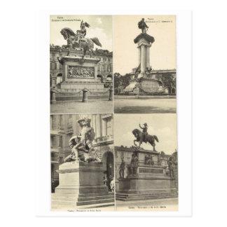 Vintage Italia, monumentos italianos Postal