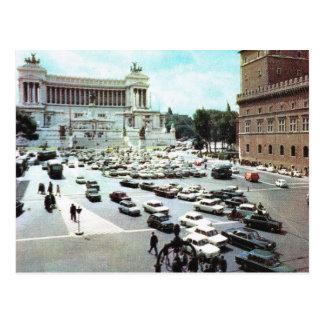Vintage Italia, Roma, plaza Venezia Postal
