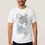 Vintage Japón 2012 del dragón de agua Camiseta