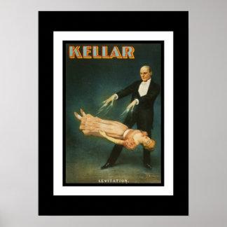 Vintage Kellar Magican del teatro de los posters Póster
