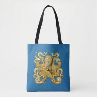 Vintage Kraken, pulpo Gamochonia, Ernst Haeckel Bolsa De Tela