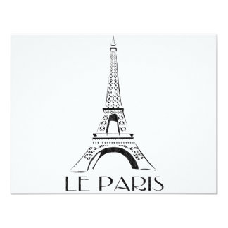 vintage le París Invitación 10,8 X 13,9 Cm