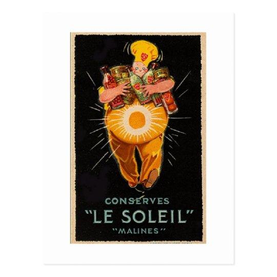 Vintage Le Soleil Postcard Postal