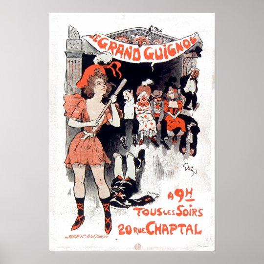 Vintage Le Théâtre du Magnífico-Guignol Póster