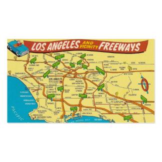 Vintage Los Ángeles Tarjeta De Visita