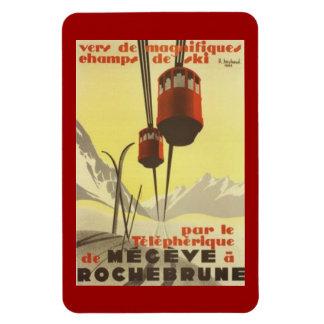 Vintage Mégève, Rhône Alpes, Francia - Imán De Vinilo