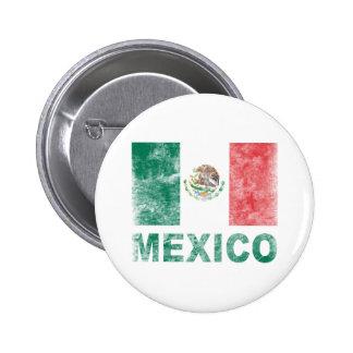 Vintage México Chapa Redonda De 5 Cm