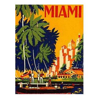 Vintage Miami la Florida los E E U U - Postales
