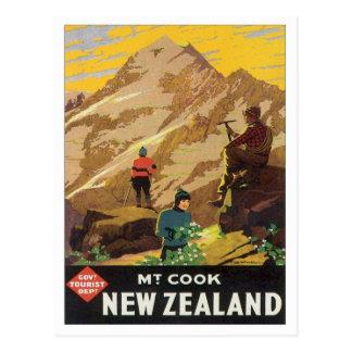 Vintage Mt.Cook Nueva Zelanda Tarjetas Postales