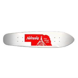 Vintage Nebraska la buena vida Longboard Tabla De Skate