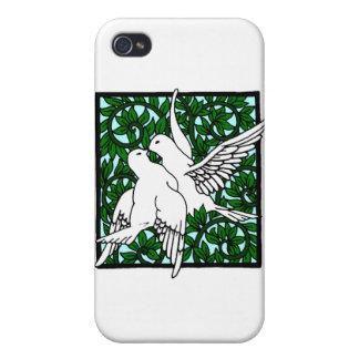 Vintage Nouveau que besa palomas iPhone 4 Carcasas